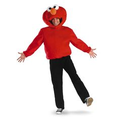 Elmo Sesame Street Adult Costume - Join the ranks for everybody's favorite street this Halloween in this adorable Elmo costume. It comes with red velour shirt with matching large head. Lovable Elmo is one of the most recognizable characters from Sesame Street. This costume is an excellent choice for kid's parties, teachers or day care providers and to wear for Halloween. #YYC #Calgary #costume #Elmo #SesameStreet