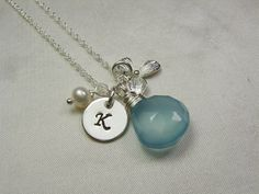 Initial Necklace by Mesmeric