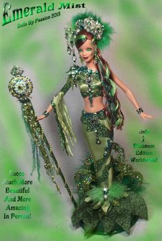 Barbie Mermaid Fairy Emerald Peridot Collector Doll Altered OOAK Custom PASSION | eBay