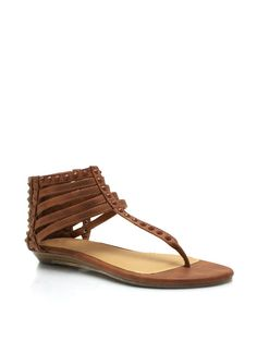strappy studded sandals