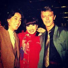 沢田研二、黒柳徹子、デビッド・ボウイ、1978年 Kenji Sawada, Tetsuko Kuroyanagi, David Bowie, 1978