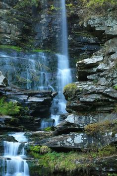 N.Y. ~Haines Falls seen from below in the Catskills Mountains. The Place to be! Artists, musicians, actors, actresses and the rich and famous love the Catskill's! Why aren't you here? Get your own! Call Upstate NY & Catskill's Real Estate & Land Expert. Kellie Place at Century 21 ~ 607-434-5263 http://www.century21upstatenewyork.com/