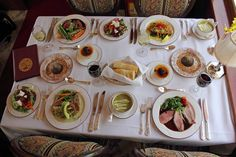 A complete meal on board the Napa Valley Wine Train.    Freshly prepared on board in our specially designed kitchen car.