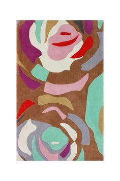 abstract floral rug, nuLOOM