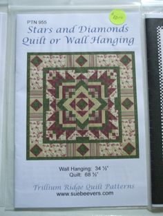 Second Silver - Quilt patterns wallhangings, lap, queen, Curtains,