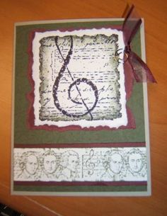 Musical Manuscript by justmeandtheboys - Cards and Paper Crafts at Splitcoaststampers