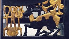 Detail from 18th dynasty chair.