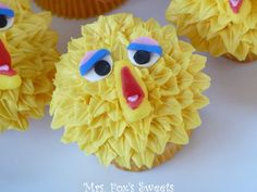 Ms. Fox's Sweets: Big Bird Cupcakes