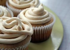 Spice Cupcakes with Creamy Brown Sugar Frosting http://www.babble.com/best-recipes/spice-cupcakes-with-creamy-brown-sugar-frosting/