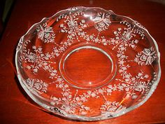 Heisey Crystal Gardenia Bowl ~ Waverly ~ Orchid Etched ~ Antique $45.88