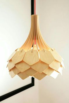 Design lamps made of wood. Making wooden lamps with a CNC router by using birch veneers. Watch the process of making a DIY wooden lamp. Deco Luminaire, Luminaire Design, Deco Design, Wood Design, Laser Cut Lamps, Wooden Lamp, Unique Lamps, Lighting Design, Lighting Ideas