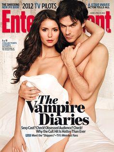 Nina Dobrev and Ian Somerhalder for Entertainment Weekly OMG.