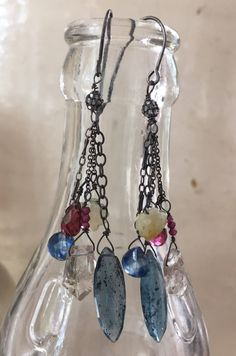 A personal favorite from my Etsy shop https://www.etsy.com/listing/531503755/diamond-and-gemstone-drops