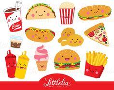 comida rápida imágenes prediseñadas clipart de alimentos