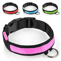 Yousave Accessories Medium Pink LED Illuminated Light Up Flashing Pet Dog Collar *** You can find out more details at the link of the image.Note:It is affiliate link to Amazon.