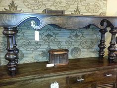 Front of Sofa table
