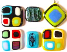 How to make a stacked fused glass pendant in 8 steps. I'm envisioning an Airstream-inspired pendant