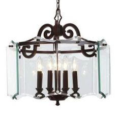 Hampton Bay Beverly Collection 8-Light Hanging Oil-Rubbed Bronze Chandelier
