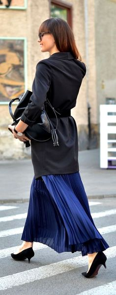 Navy And Black Chic Style