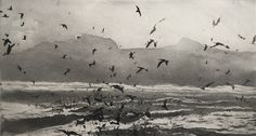 I found this at the Royal Academy Summer Exhibition 2018 Norman Ackroyd, St Kilda, Book Projects, Etchings, Dark Art, Light In The Dark, Printmaking, Art Photography, Sketches
