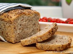 five grain bread Pan Bread, Bread Baking, Norwegian Food, Norwegian Recipes, Bread Recipes, Banana Bread, Nom Nom, Sandwiches, Food And Drink