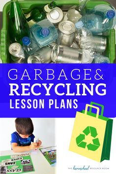 FUN garbage and recycling lesson plans for preschool, kindergarten, and elementary ages. Garbage and recycling books, activities, and videos! Science Lesson Plans, Kindergarten Lesson Plans, Preschool Lessons, Lessons For Kids, Kindergarten Activities, Lesson Plans For Elementary, Preschool Learning, Preschool Ideas, Classroom Activities