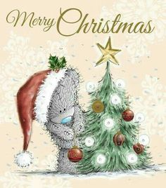 Tatty Teddy Decorating Tree Me to You Bear Christmas Card Christmas Clipart, Christmas Wishes, Christmas Pictures, Christmas Greetings, Halloween Pictures, Christmas Drawing, Christmas Art, Winter Christmas, Vintage Christmas