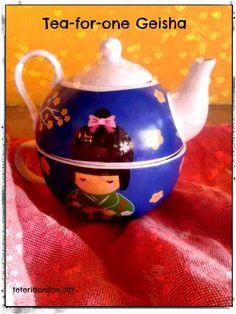 """Tea-for-one """"Geisha"""". Conjunt individual de tassa i tetera. Preu: 7,95 €. Troba-la a: http://teteriaonline.cat/TEA-FOR-ONE-GEISHA"""