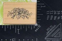 PSX Rubber Stamp Flower Branch Rose Floral Plant B1354 S18 #Unbranded