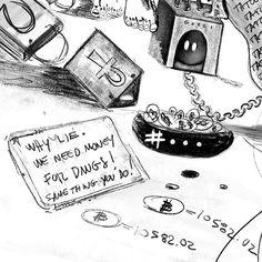 bit of the / details 33/365  #projectsotwisted #art #louisvuitton  #artemoderna  #artistlife #details  #artlife #canadianartist #poetry #gallery #galeria #montreal #artwork #everyday #arte  #artistsoninstagram #artiste #montrealartist #duality #32 #365 #moodoftheday #drawings #bitcoin  #sketchbook #feet #tatoo  #gucci