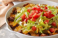 Cheesy Beef-Corn Chip Skillet recipe. Basically an awesome walking taco/Frito pie/whatever regional name.