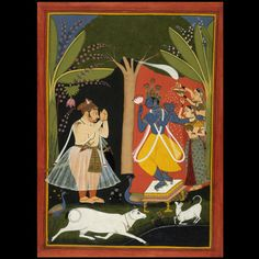 COMPASS Title: A Rajput king worshipping Krishna, a painting on paper Pichwai Paintings, Indian Paintings, Rajasthani Painting, Mughal Empire, Gouache Painting, Arabian Nights, Illuminated Manuscript, British Museum, Indian Art