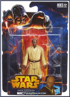 Mace Windu (Revenge Of The Sith) from Star Wars - Saga Legends (2013) - Basic Series manufactured by Hasbro [Front]
