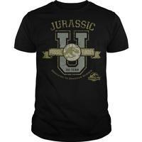 Jurassic Park Nouveau Logo Shirt Classic Dinosaur Movie T Shirt Homme Noir