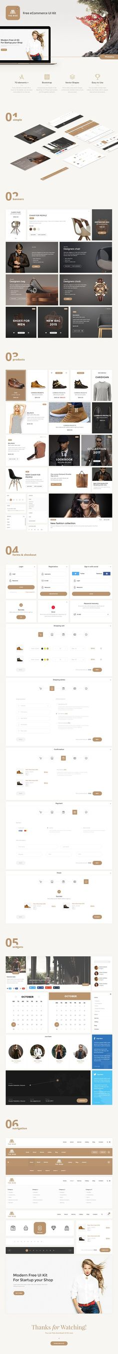 Rise Free eCommerce UI Kit  (Freebie) by Grooni.com