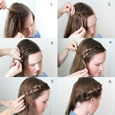 Chain braid for middle lenght hair Cute Braided Hairstyles, Girl Hairstyles, Simple Hairstyles, Step By Step Hairstyles, Braids For Long Hair, Love Hair, Hair Today, Hair Dos, Hair Inspiration