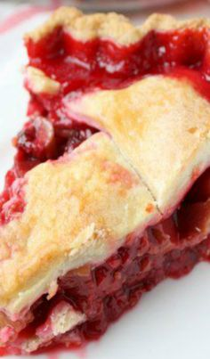 Raspberry Rhubarb Pie.....I love tart desserts, this looks like it was made for me
