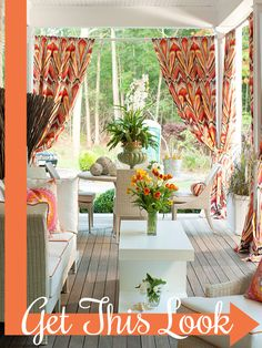 5 Tips for Creating a Beautiful and Comfortable Outdoor Room by Cassity of @Remodelaholic .com .com .com .com, featured on @Sarah Chintomby Chintomby Kellam.com #outdoorroom #porch #summer