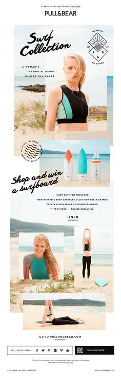 Love the layout! Pull and Bear   newsletter   fashion email   fashion design   email   email marketing   email inspiration   e-mail Confira dicas, táticas e ferramentas para E-mail Marketing no Blog Estratégia Digital aqui em http://www.estrategiadigital.pt/category/e-mail-marketing/