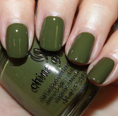 nail paint, nail polish, green, China Glaze, sexy, military, beautiful, glossy, wow