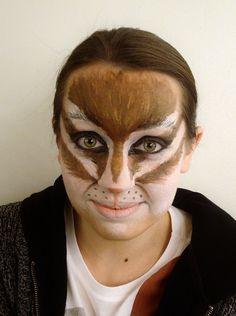 Ok, I'm a little scared but it's super cool! Chipmunk makeup!