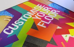 G-Floor, can be customised to fit in with your branding. Bring life to your floors in any environment. G Floor can withstand heavy traffic, and will never fade.