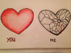 Drawings Of A Broken Heart Drawings Of A Broken Heart This image has. Drawings Of A Br Broken Heart Pictures, Broken Heart Drawings, Broken Heart Quotes, Heart Broken, Heart Break Drawings, Broken Heart Sketch, Sad Drawings, Couple Drawings, Pencil Drawings