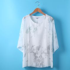 Cheap chiffon blouse, Buy Quality blouses short sleeves directly from China blouses plus Suppliers: 2017 Blouse short Sleeve Women Clothing Summer Female Plus Size Blusas Top blue white white xxl chiffon blouse Shirt Blouses, Kimono Shirt, Shirts, Blusas Top, White White, Blue And White, Summer Outfits Women, Blouses For Women, Chiffon