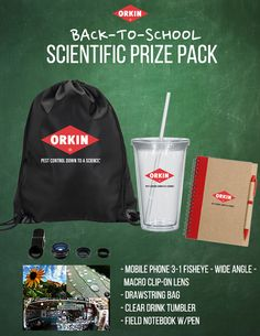Enter for a chance to win an awesome Orkin Back to School Prize Pack at WomanTribune.com! Giveaway is open to US entrants ages 18+ and ends September 14th.