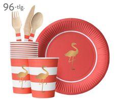 Zieren Sie Ihre Tafel mit Pappgeschirr Preppy Flamingo (96-tlg.) in Lachsfarbe. Folgen Sie Ihrer Inspiration auf >> WestwingNow und finden Sie hübsche Tischaccessoires von DELIGHT DEPARTMENT.