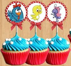 Cupcakes Gallina Pintadita Leo Birthday, Boy First Birthday, 2nd Birthday Parties, Tiki Party, Ideas Para Fiestas, Holidays And Events, Lottie Dottie, Cupcake Toppers, First Birthdays
