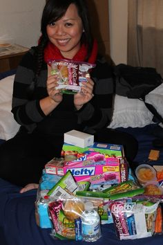 "Ever wonder how you can help a homeless individual? Great idea! Here's what she does: Every month, I go to the store and get zip lock bags, snacks, and hygiene products and make little baggies that I call ""blessing bags"". I sit down and fill these bags with non perishable items in them. I keep at least four of them in my car so when I'm driving and see a homeless person I give them these bags because you can clearly see that any little bit will 