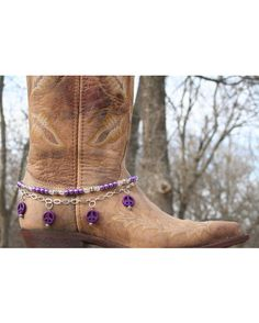 Boot Candy Naturals,  Purple Howlite Peace