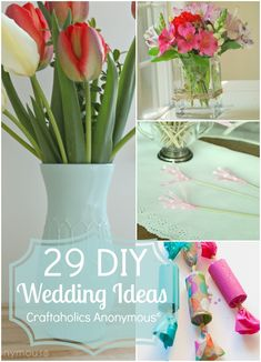 DIY Wedding ideas from Bridal shower to center pieces to DIY decor and lots more. Great resource for all brides-to-be!